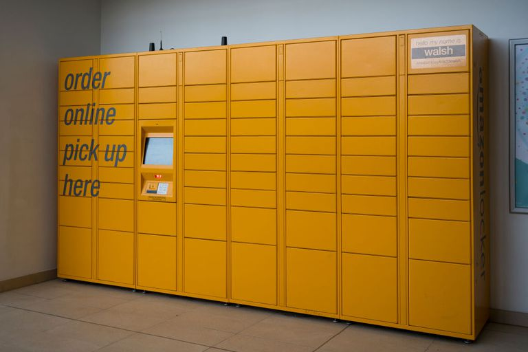 Amazon established several locker locations across the US, where customers can pick up their delivery (or return a product). The lockers can be opened via a self-service kiosk. Image source: Terrestrial.