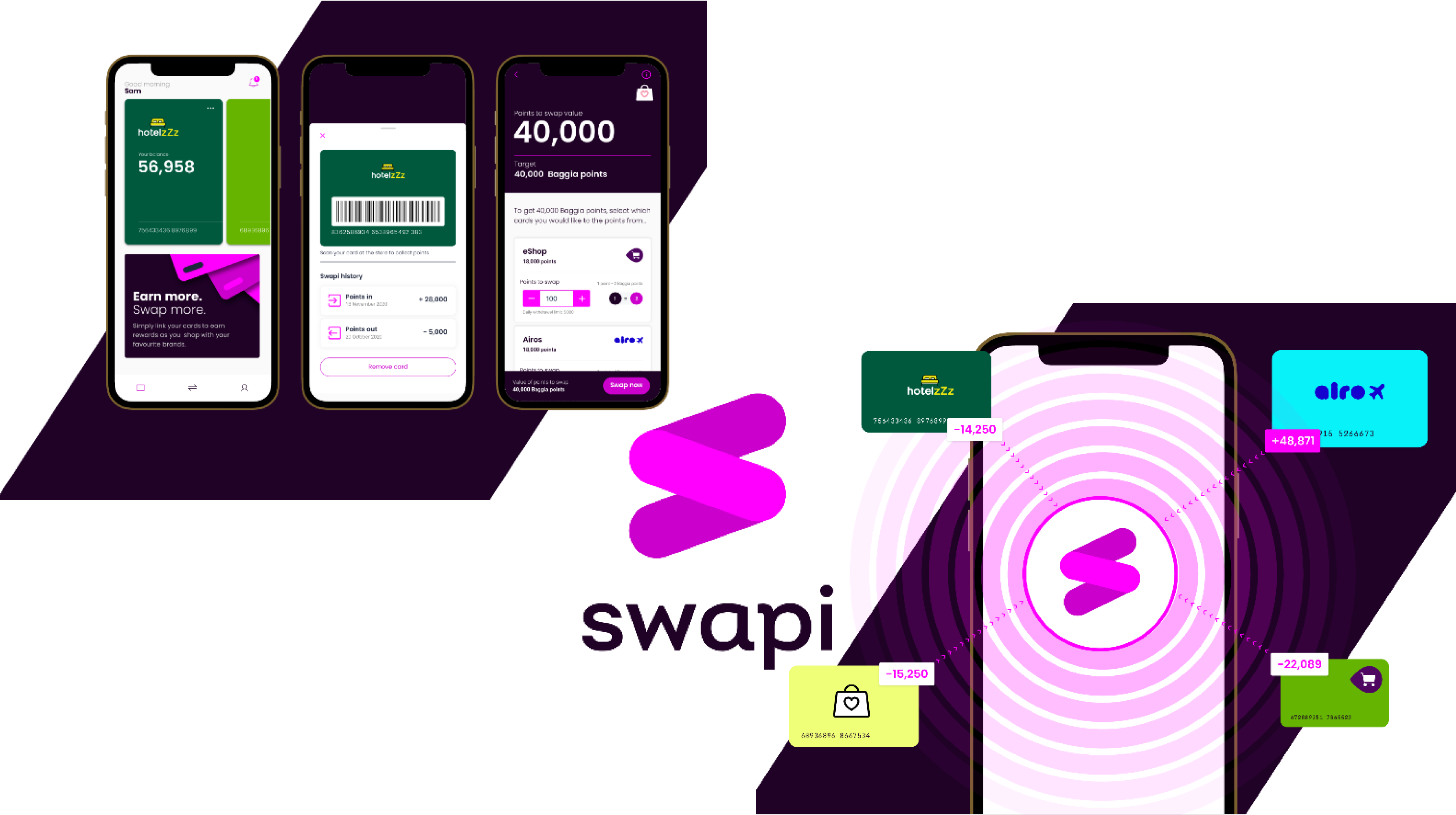 Swapi is designed to be a customer-centric experience that allows brands to clear down financial liability quickly at almost no fee and give customers richer benefits in your core system. For the redemption brand, the points marketplace is a compelling customer acquisition tool at a low CPA.