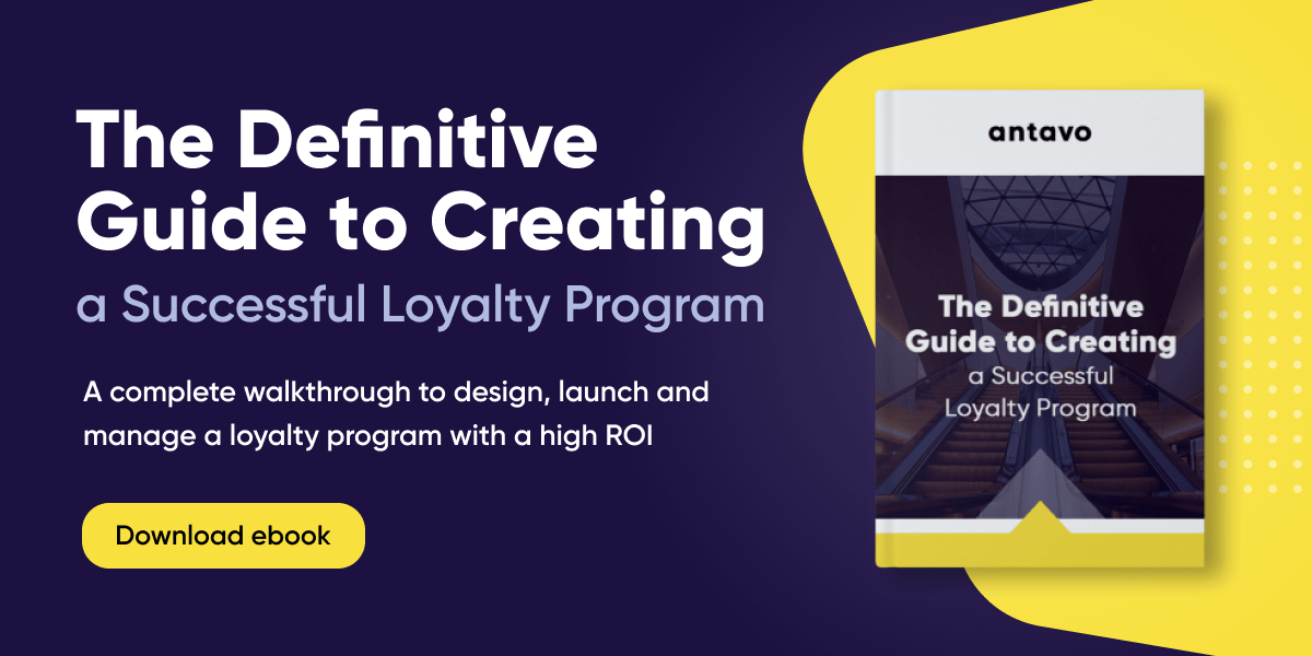 A banner recommending to download Antavo's 'The Definitive Guide to Creating a Successful Loyalty Program' ebook
