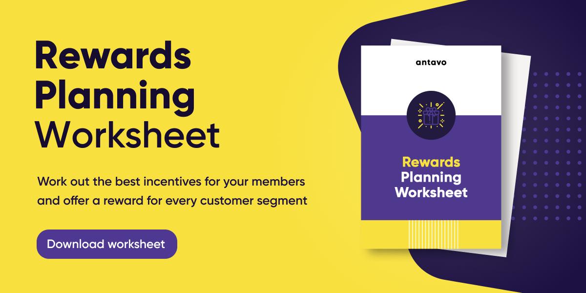 Banner recommending readers to download Antavo's Reward Planning Worksheet