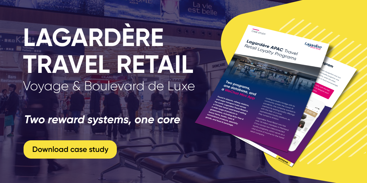 Antavo's banner encouraging readers to download the case study about Lagardère.