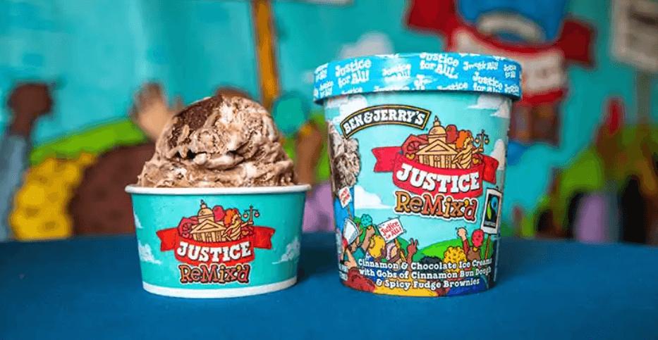 Ben & Jerry's Justice ReMix'd flavor ice cream.
