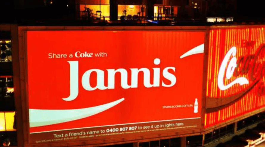 Coca-Cola's Share a Coke With Friends campaign