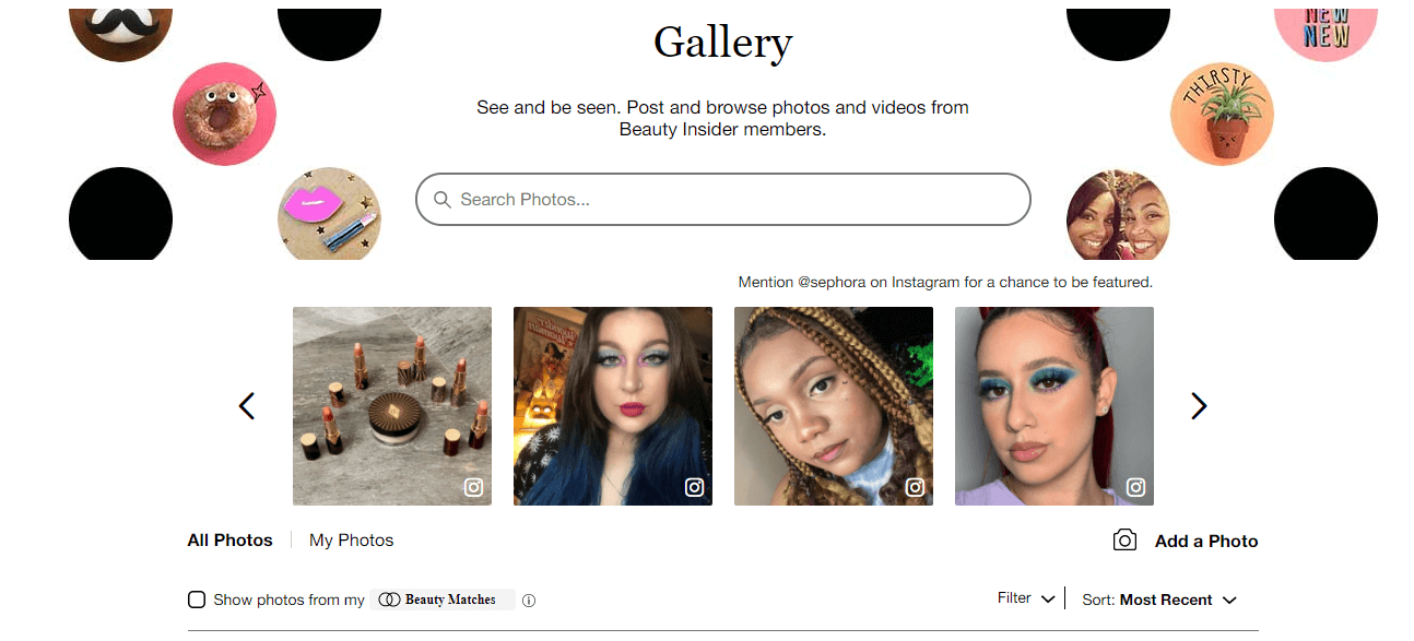 Members of the Beauty Insider Community can chat with each other, join challenges, and share experiences.