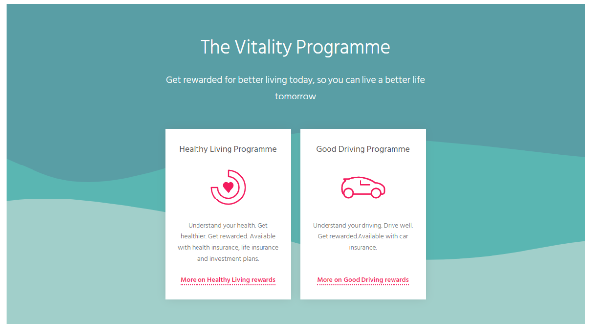 The Vitality Programme rewards their customers for living a healthier life.