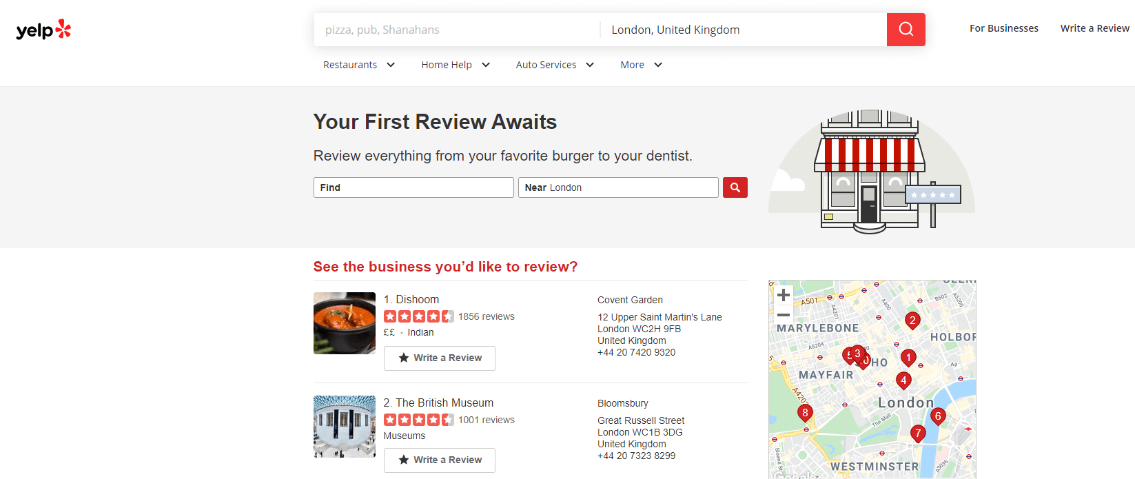 One of the most popular review sites is Yelp, which publishes crowd-sourced reviews about business.