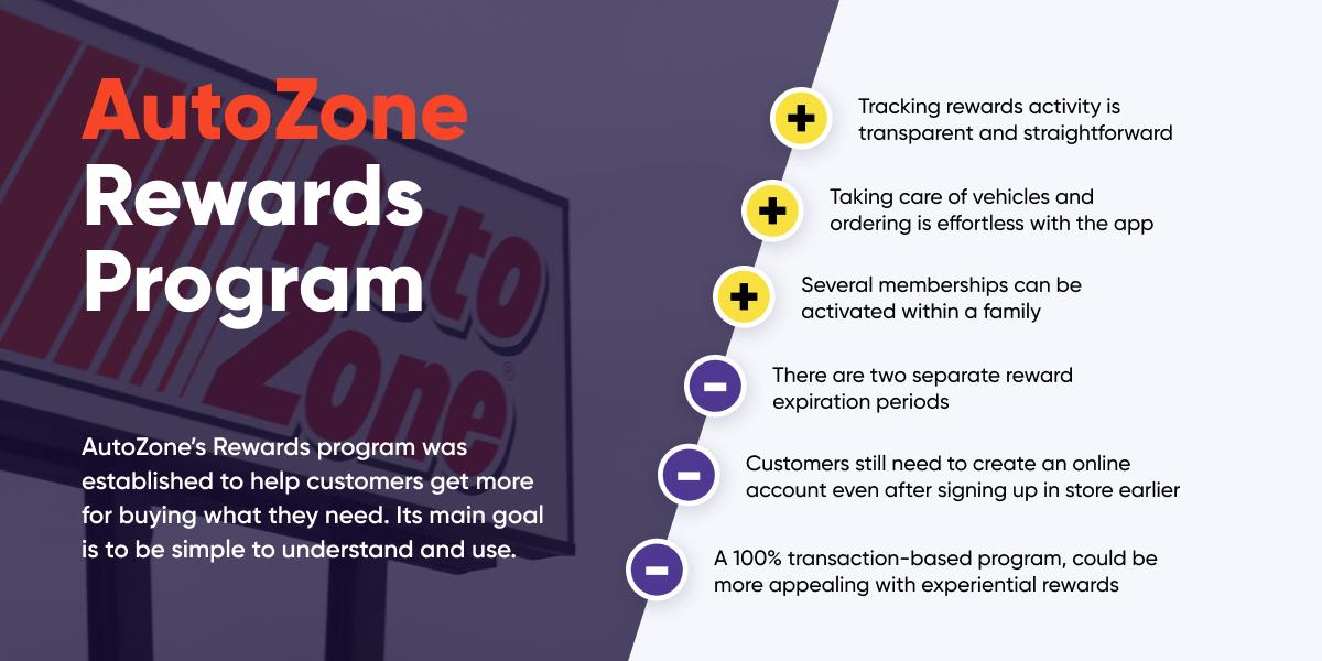 Pros and cons of AutoZone's rewards program