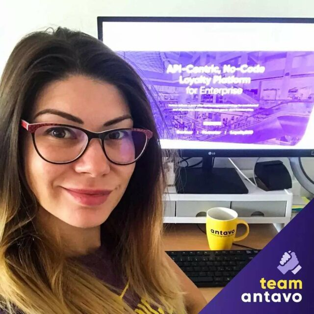 """Eniko is our Instructional Designer at Antavo.  As she loves learning and renewal, she is responsible for constantly boosting our brains. Her greatest achievement at the company is also related to her passion:  """"My biggest success at Antavo is that I managed to set up a Moodle-based learning environment for internal and partner trainings. It's great to see how happy people are when we offer new courses, because everybody loves to expand their knowledge. Learning never ends!"""" 📚💡💻💯  *  #Antavo #meettheteam #colleagueatwork #homeoffice #teamspirit #learningneverends #gainknowledge"""