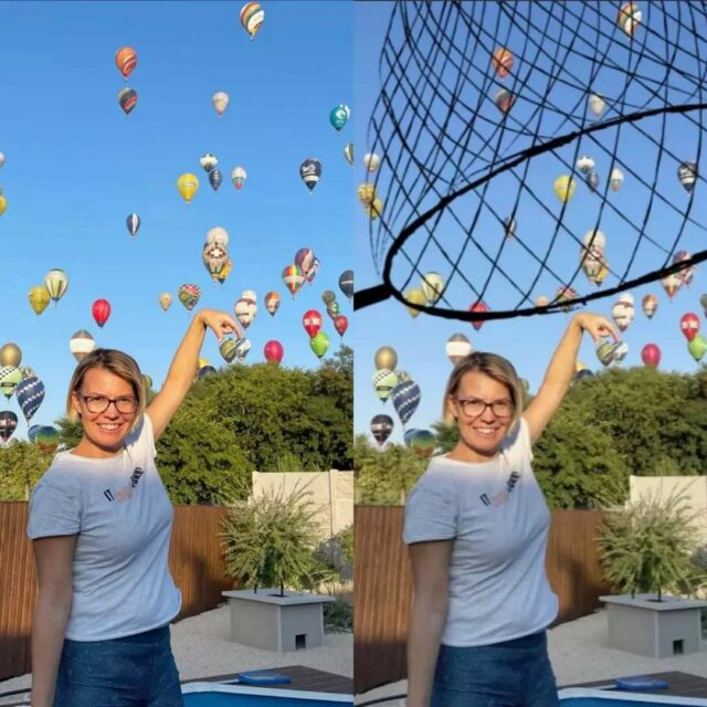 Capturing the moment (and our graphic designer)...🎈📷😍  * #Antavo #whennotworking #hotairballoons #capturethemoment #flyhigh #havefun